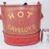 Antique Painted Toleware Tin Sausage Dispenser