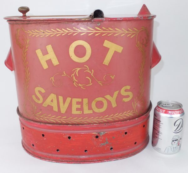 Antique Painted Toleware Tin Sausage Dispenser