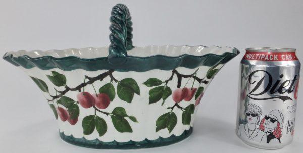 Antique Wemyss Pottery Large Cherry Basket Scotland