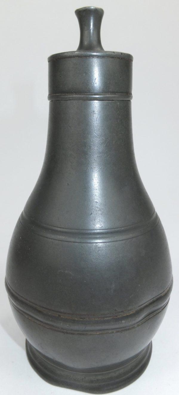 Antique English Pewter Baby Feeding Bottle C1750