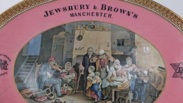 Prattware Advertising Plate Jewsbury & Brown Mineral Waters Manchester