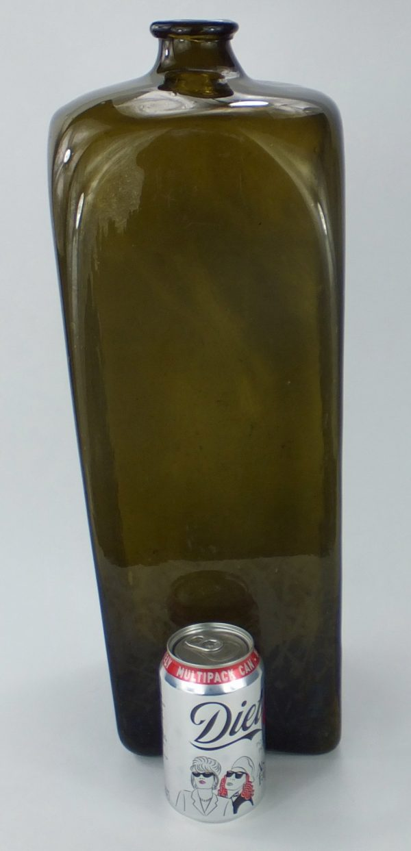 Antique Extra Large Glass Gin Bottle Holland 19 Inches Tall