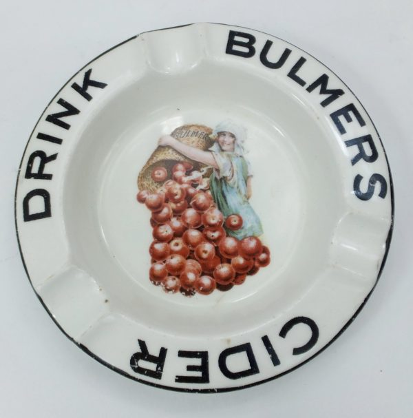 Bulmers Cider Advertising Pottery Ashtray