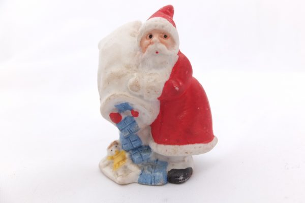 German Bisque Santa With Bag Of Toys