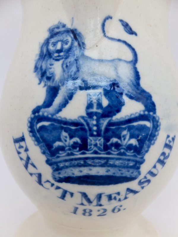 Rare Advertising Pottery Jug Ale Spirits Measure 1826