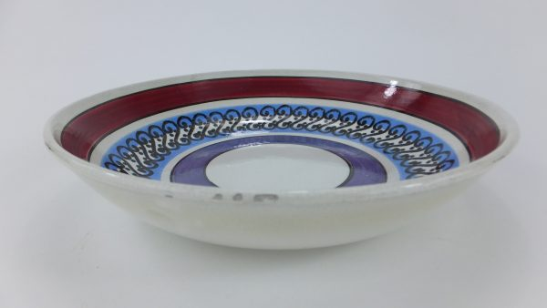 Spongeware Modernist Pottery Decorated Bowl