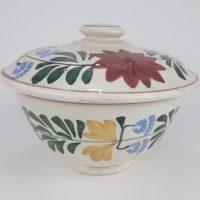 Spongeware Bowl & Lid Norman Franks