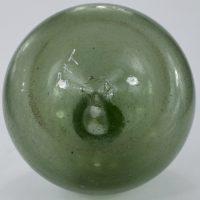 Unusual Aqua Glass Onion Bottle