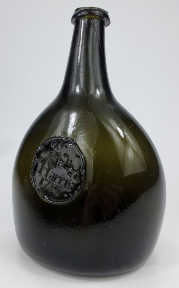 Antique Sealed Bladder Wine Bottle 1756