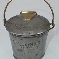 Walker Sloane St Jordan & Sons Tin Cream Can London