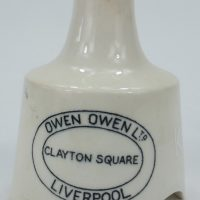 Black & White Improved Pottery Pie Funnel Owen Owen Liverpool