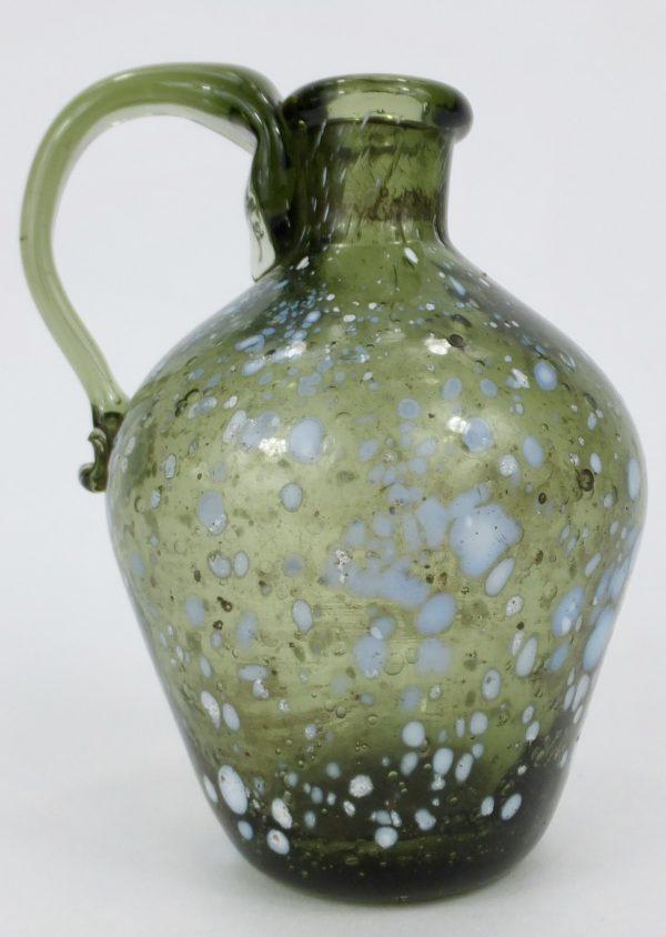 Rare Miniature Nailsea Glass Jug Bottle