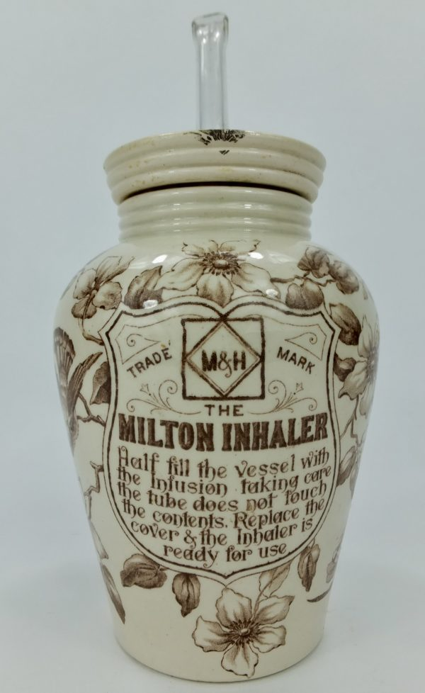 Antique Pottery Medical Inhaler Milton