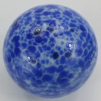 Antique Blue End of Day Glass Witch Ball