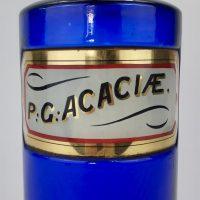 Blue Glass Apothecary Bottle Acacia