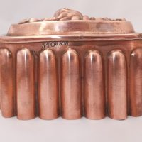 Antique Small Hazelnuts Copper Food Mould Mold