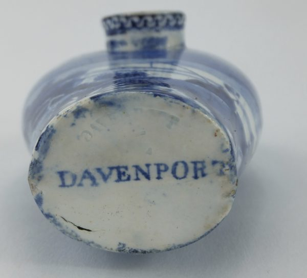 Davenport Blue & White Pottery Nurser Feeding Bottle
