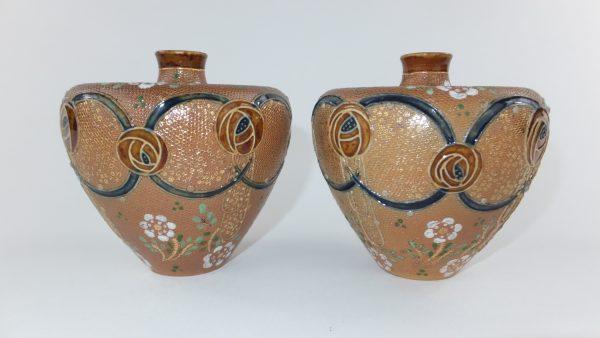 Doulton Lambeth Saltglaze Stoneware Art Nouveau Vases
