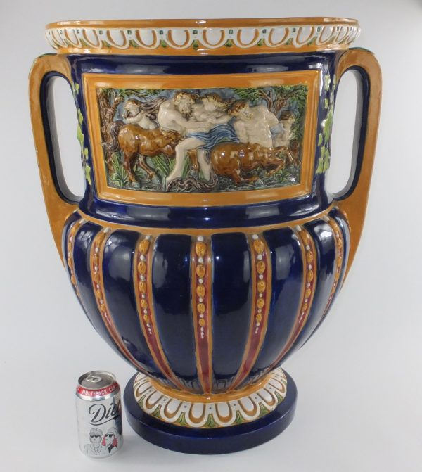 Antique Minton Majolica Pottery Planter Vase