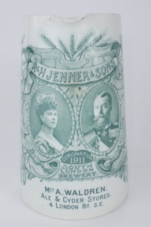 Jenners South London Brewery Royal Doulton Ale Pub Jug Coronation 1911