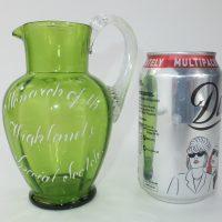 Monarch Scotch Whisky Water Green Glass Jug