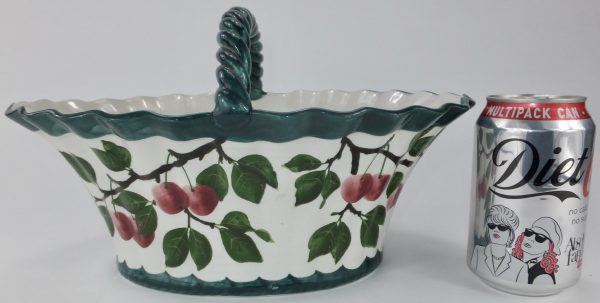 Antique Wemyss Pottery Large Cherry Basket Scotland