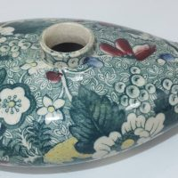 Polychrome Staffordshire Pottery Nurser Feeding Bottle