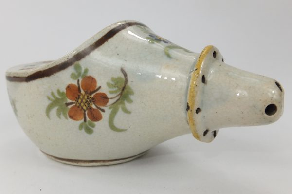 Pratt Ware Pottery Pap Boat Feeding Bottle
