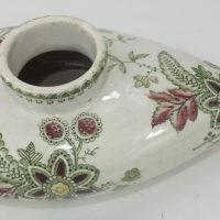 Rare Polychrome Pottery Baby Feeding Bottle