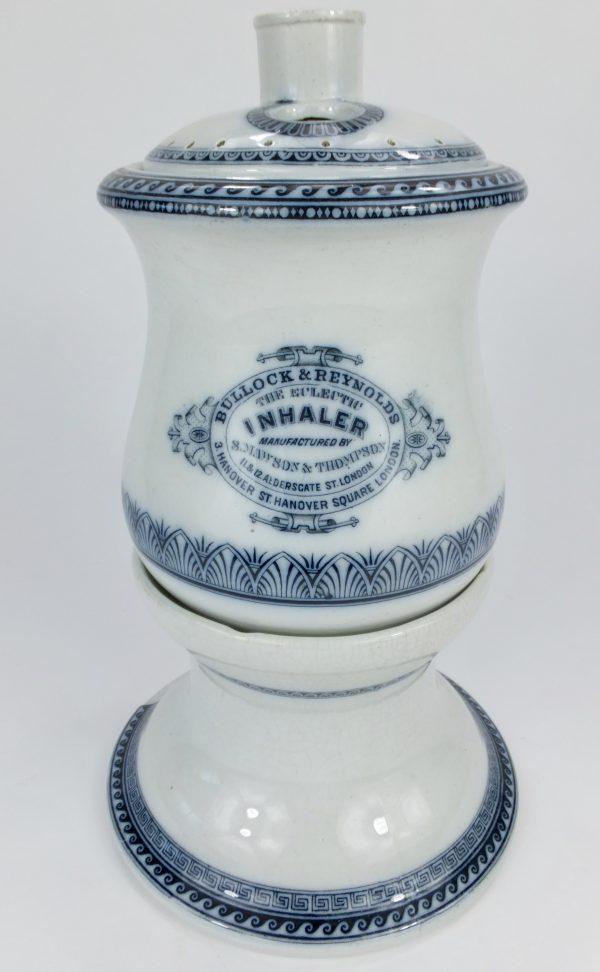 Antique Maw Son & Thompson Pottery Inhaler Bullock & Reynolds London