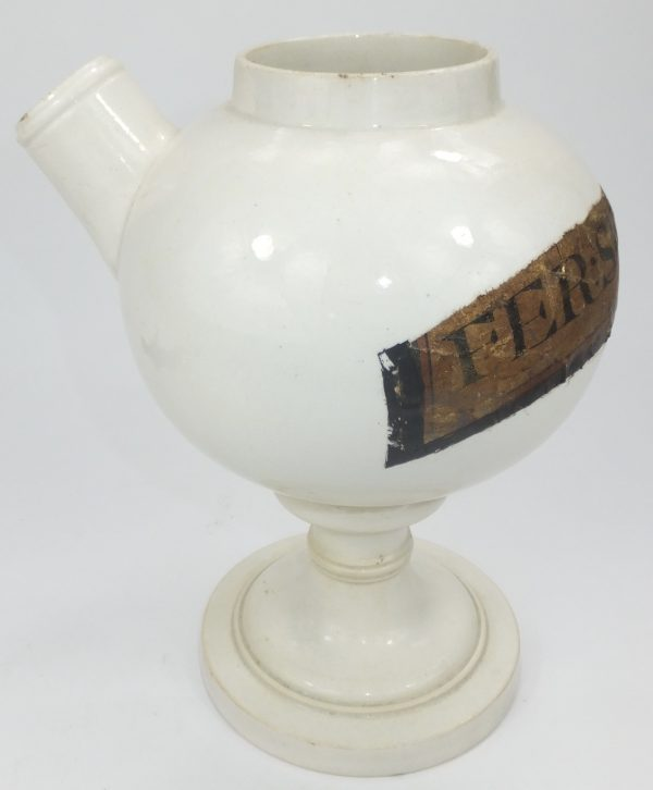 Creamware Pottery Syrup Apothecary Chemist Jar