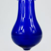 Ground Pontil Two Colour Hyacinth Bulb Glass Vase