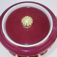 Maroon Pottery Alcock Honey Jar