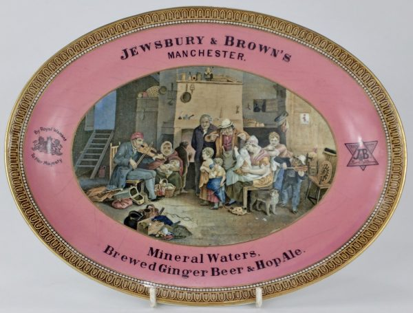 Prattware Advertising Plate Jewsbury & Brown Mineral Waters Manchester