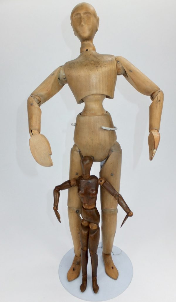 Antique French Modernist Male Maquette Lay Figure