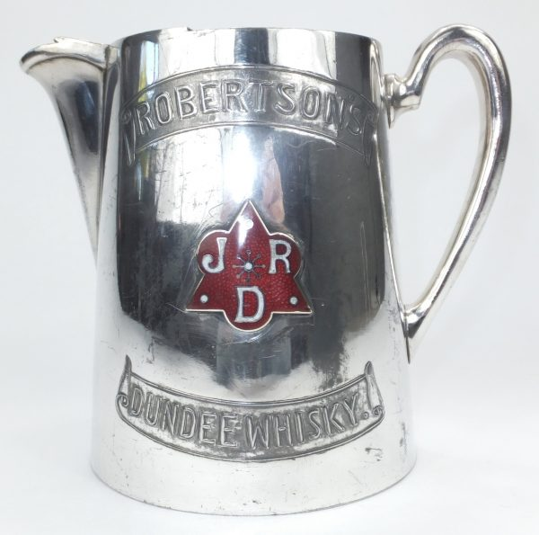 Robertsons Silver Plate Scotch Whisky Pub Jug