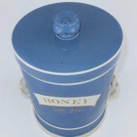 Blue Apothecary Chemist Pottery Honey Jar