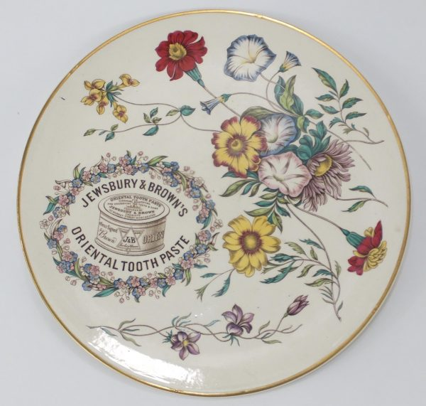 Prattware Pottery Advertising Plate Jewsbury & Brown Toothpaste
