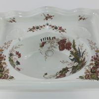 Floral Miniature Ironstone Pottery Trademans Sample Basin Johnson Bros Hanley