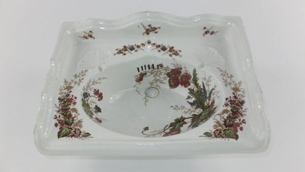 Floral Trademans Sample Basin Johnson Bros Hanley