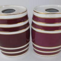 Small Staffordshire Pottery Pub Barrels Bitters