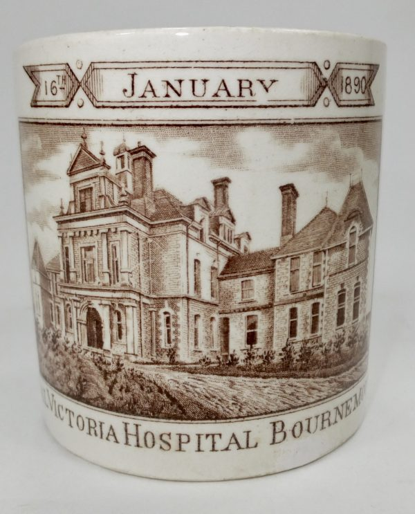 Commemorative Pottery Mug Victoria Hospital Bournemouth