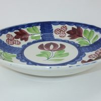 Rose Blue Spongeware Pottery Fruit Bowl