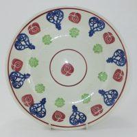 Heart Spongeware Pottery Fruit Bowl