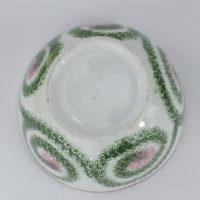 Antique Spiral Spongeware/spatterware Pottery Bowl