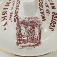 Watsons Dundee Scotch Whisky Match Box Holder Pottery Striker