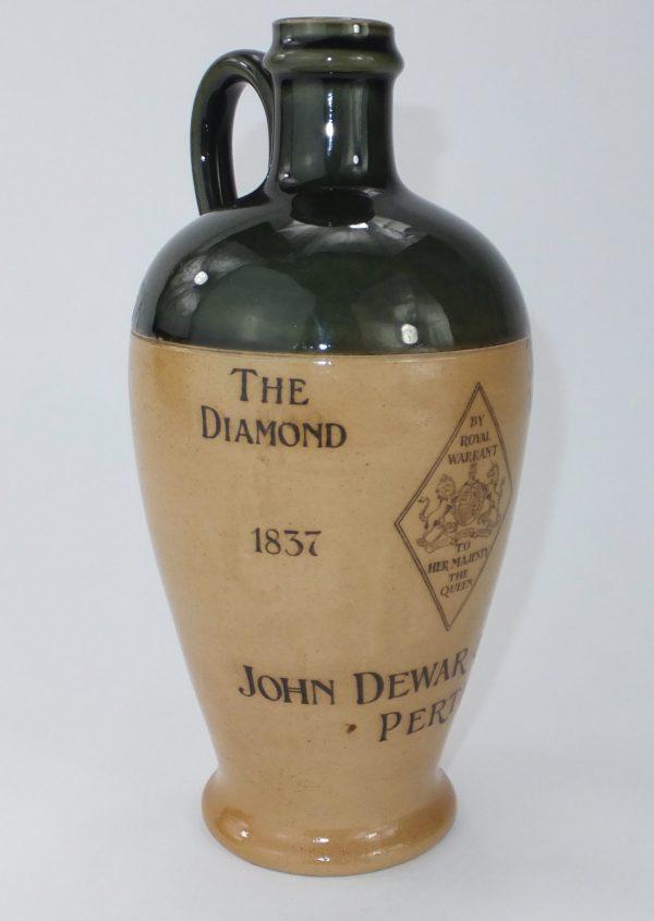 Doulton Saltglaze Diamond 1897 Jubilee Dewars Perth Whisky Jug