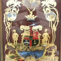 Ancient Order Of Foresters Masonic Reverse Glass Painted Sign