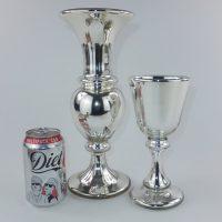 Antique Mercury Glass Hale Thompson Vase