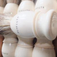Antique Perfecta Barber Shop Shaving Brush Bone Box Set